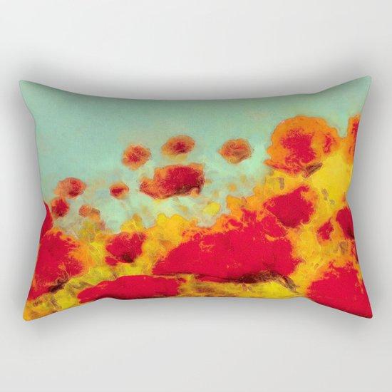 FLOWERS - Poppy time Rectangular Pillow