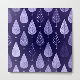 Watercolor Forest Pattern #8 Metal Print