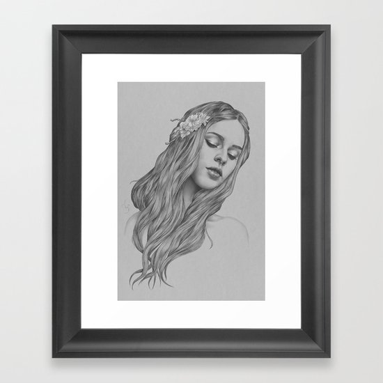 Patience - a digital drawing Framed Art Print