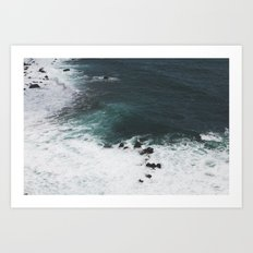 Indigo Coast Art Print