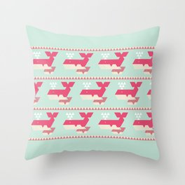 Triangwhales Throw Pillow