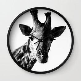 Giraffe Portrait II Wall Clock