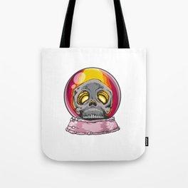 Scary Halloween Skeleton Skull Snow Globe Tote Bag