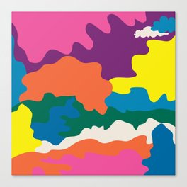 A Wiggle & A Wave Away Canvas Print