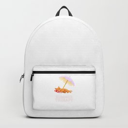 Cat on the Beach Summer Therapy Backpack
