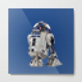 R2D2 Droid - Legobricks Metal Print