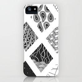 Diamond Zentangles iPhone Case
