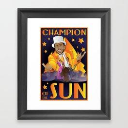 Champion of The Sun (The Nightman Cometh) Framed Art Print