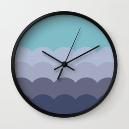 BROOKE TEAL - Mid Century Modern Abstract Graphic Design Wall Clock