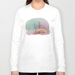 Deep Winter Dreaming (With Eyes Closed) Long Sleeve T-shirt