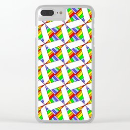 optical pattern 25 Clear iPhone Case