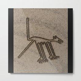 NAZCA LINES DOG NAZCA LINES ART Geoglyphs Ancient Metal Print