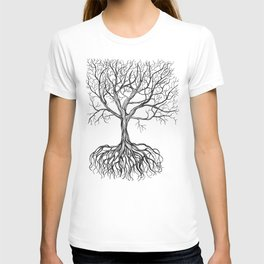 Bare tree with root T-shirt