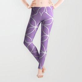 Crossing Circles - Periwinkle Purple Leggings