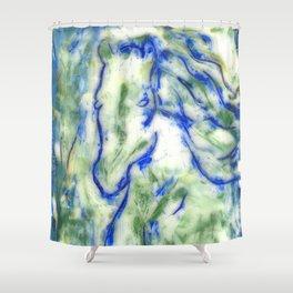 Encaustic Horse Shower Curtain