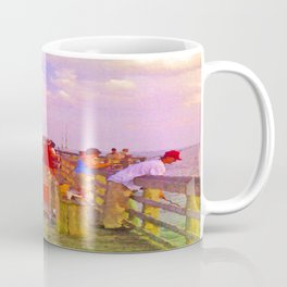 Pier Fishing Coffee Mug
