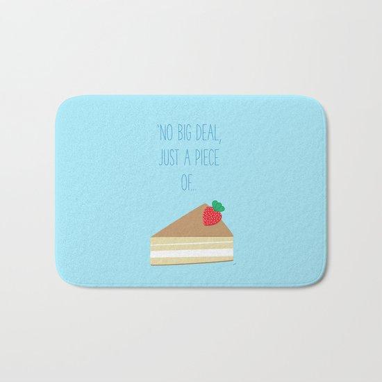 'Just piece of cake!' Bath Mat