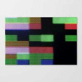 Pixel RGB abstract #1 Canvas Print