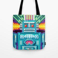 Pixel Robot Tote Bag
