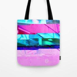 Asahikawa 2054 Glitch Cyberpunk Tote Bag