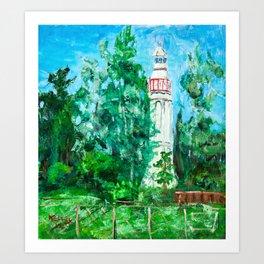 Lighthouse in Mersrags, Latvia Art Print