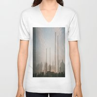 industrial V-neck T-shirts featuring industrial by cristiana