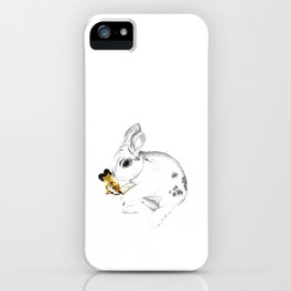 Some'bunny' Loves You (Single Bunny/White) iPhone Case