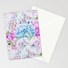 Multicolor Watercolor Hydrangea dream pattern Stationery Cards