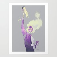 wtnv Art Prints featuring khoshekh by anobviousaside