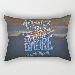 So Go On — Explore Rectangular Pillow