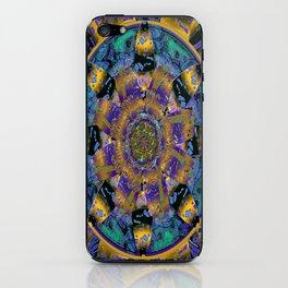 Purple Gold Dream Catcher Mandala iPhone Skin