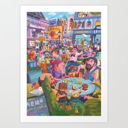 Terace BP soft colors Art Print