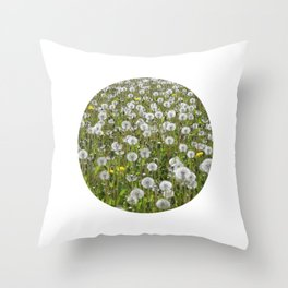 dandelion meadow II Throw Pillow