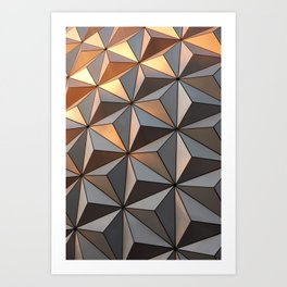 Triangle pattern 3d Art Print