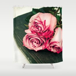 Rose Book Shower Curtain