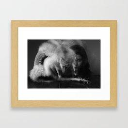 Henry, fox and me Framed Art Print