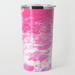 Pink Ocean Waves Travel Mug