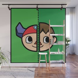 Old & New Animal Crossing Villager Comparison Wall Mural