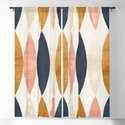 Colorful Pastel Geometric Scale Pattern Pink Navy Gold Art Deco by seam-less