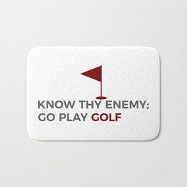 Know Thy Enemy Play Golf Strategy Bath Mat