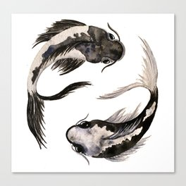 Yin Yang Koi Canvas Print