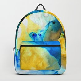 Iced Lemon Drop - Abstract Art By Sharon Cummings Backpack