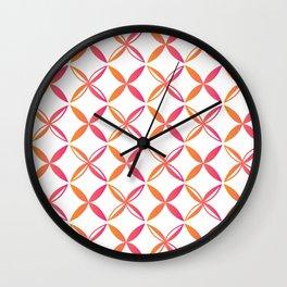 Urban Nesian Pink and Orange Siapo Wall Clock