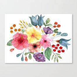 Acua Flower Canvas Print