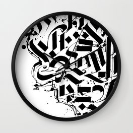 CALLIGRAPHY N° 01 ZV Wall Clock