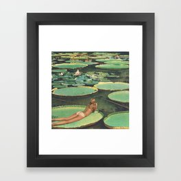 LILY POND LANE Framed Art Print