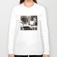 theater Long Sleeve T-shirts featuring Turnage Theater by Justin Alan Casey