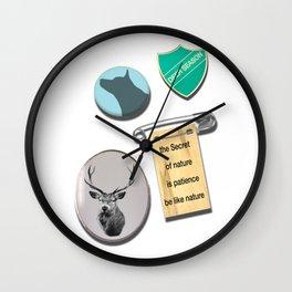 Deer Season pins Wall Clock
