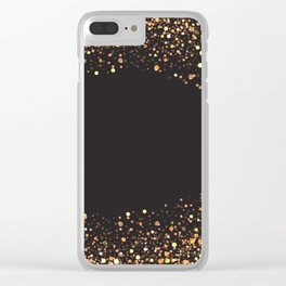 Black and gold #society6 Clear iPhone Case