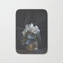 Flower: White Cyclamen Bath Mat